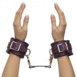 Kajdanki skórzane - 50 Shades Freed - Leather Wrist Cuffs