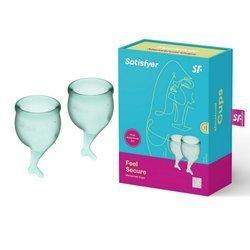 Zestaw kubeczków menstruacyjnych Satisfyer Feel Good Menstrual Cup Set Dark Green